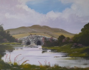 Landscape Painting, acrylic, conceptual art, artwork by Cathal O Malley