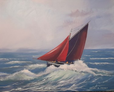 Boat Painting, acrylic, hyperrealism, artwork by Cathal O Malley
