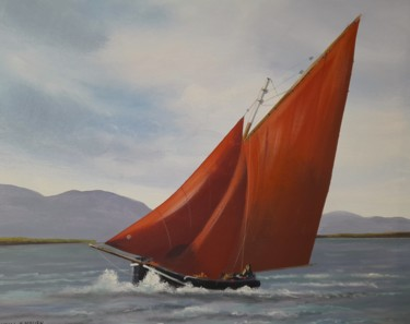 Seascape Painting, acrylic, hyperrealism, artwork by Cathal O Malley