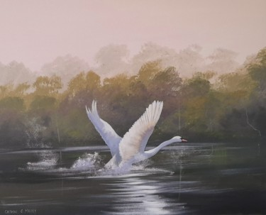 Bird Painting, acrylic, hyperrealism, artwork by Cathal O Malley