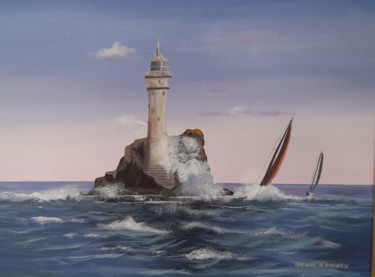 """Painting titled """"Waves in cork..."""" by Cathal O Malley, Original Art, Acrylic"""