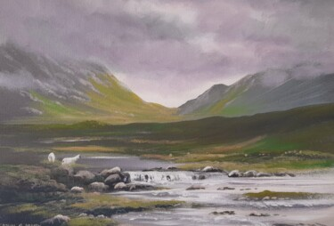 """Painting titled """"Connemara  cloud"""" by Cathal O Malley, Original Art, Acrylic"""