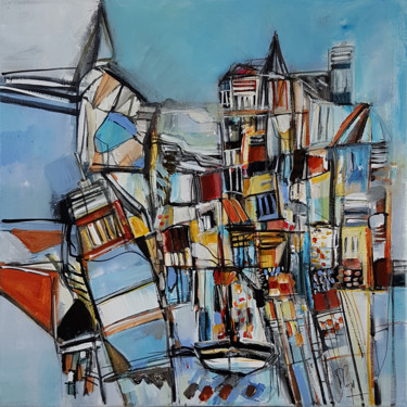 Painting, acrylic, artwork by Muriel Cayet