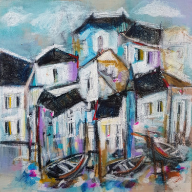 Landscape Painting, acrylic, expressionism, artwork by Muriel Cayet