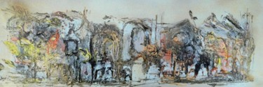 """Painting titled """"Villefranche"""" by Muriel Cayet, Original Art,"""