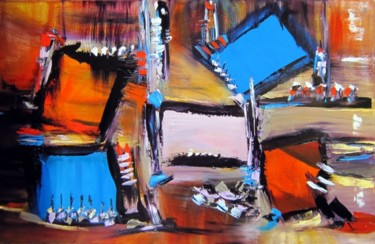 """Painting titled """"Tropic patchwork"""" by Muriel Cayet, Original Art,"""