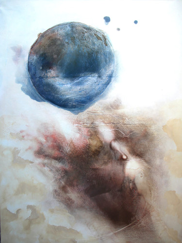 """Painting titled """"Falling Earth"""" by Celia Kettle, Original Art, Acrylic Mounted on Stretcher frame"""