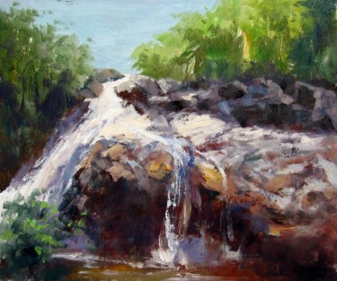 """Painting titled """"Brook #006"""" by Lermay Chiang, Original Art, Oil Mounted on Stretcher frame"""