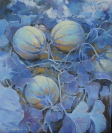 """Painting titled """"Melons"""" by C.Signorini, Original Art,"""