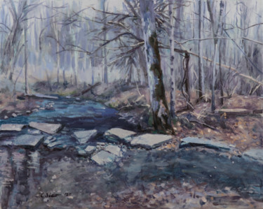 """Painting titled """"Ready for Winter"""" by Charles Jiao, Original Art, Oil"""