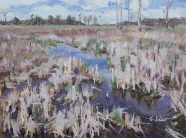 """Painting titled """"Wetland"""" by Charles Jiao, Original Art, Oil"""