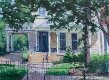 """Painting titled """"New Orleans House"""" by Charles Jiao, Original Art, Oil"""