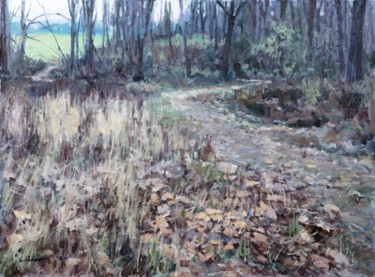 """Painting titled """"Diminished Green"""" by Charles Jiao, Original Art, Oil"""