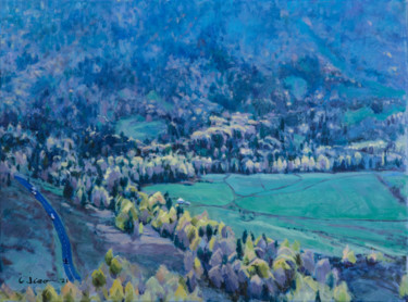 """Painting titled """"Mountain Col"""" by Charles Jiao, Original Art, Oil"""