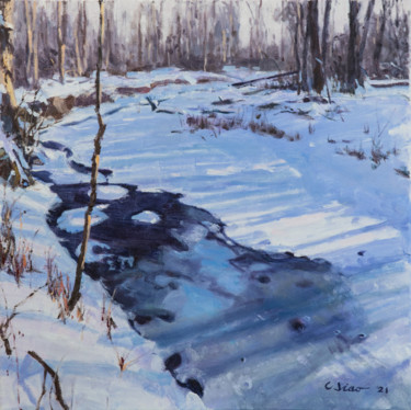 """Painting titled """"Melting"""" by Charles Jiao, Original Art, Oil"""