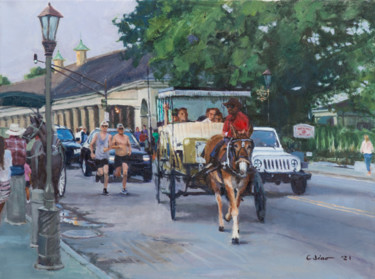 """Painting titled """"Alongside"""" by Charles Jiao, Original Art, Oil"""