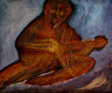 """Painting titled """"Odepus Plays The Un…"""" by Charles Riley, Original Art, Oil Mounted on Stretcher frame"""