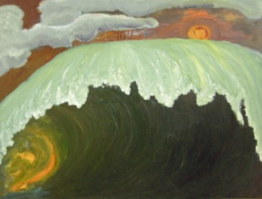 """Painting titled """"Sun on Wave"""" by Charles Riley, Original Art, Other"""
