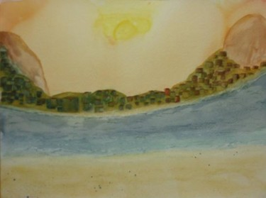 """Painting titled """"Curvature Landscape"""" by Charles Riley, Original Art, Other"""