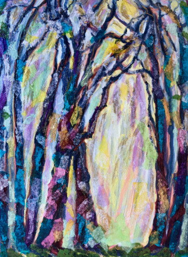 """Collages titled """"Sacred Grove"""" by Charlotte D'Aigle, Original Art, Collages"""