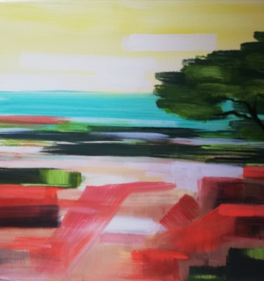 """Painting titled """"Cote d'Azur"""" by Charlotte Pivard (Cha_m_art), Original Art, Acrylic Mounted on Stretcher frame"""