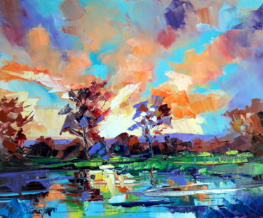 Nature Painting, oil, figurative, artwork by Charly
