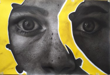 """Drawing titled """"Meaning behind ever…"""" by Chifart, Original Art, Charcoal"""