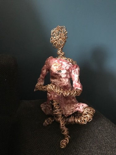 Women Sculpture, wire, figurative, artwork by Christel Pouthier