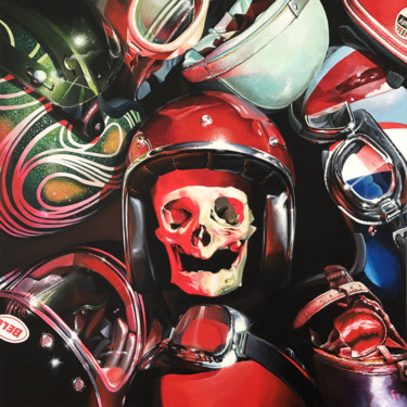 """Painting titled """"SCARY RED CANDY"""" by Christian Lucas, Original Art, Acrylic"""