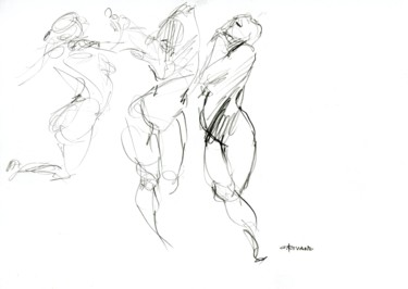 Drawing, pencil, artwork by Christian Rolland