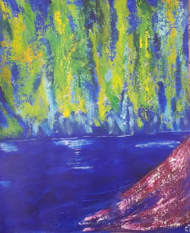 Nature Painting, acrylic, abstract, artwork by Christiane Tort