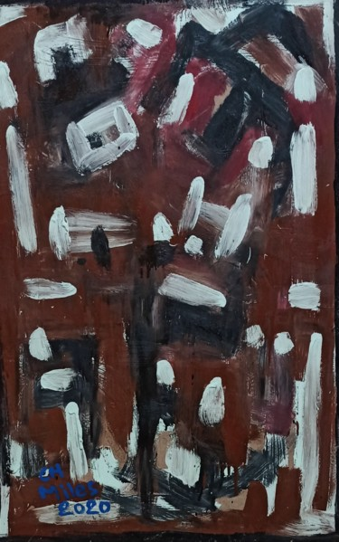 Painting, lacquer, abstract, artwork by Christian Miles