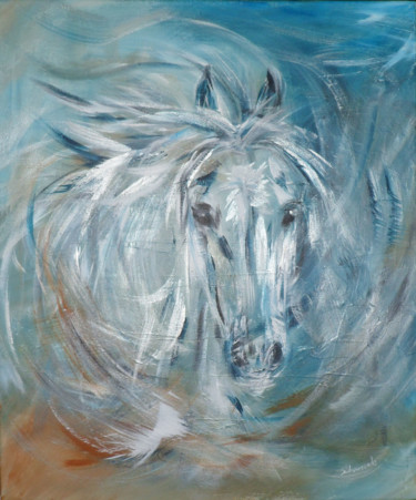 Horse Painting, acrylic, figurative, artwork by Christine Chaussade
