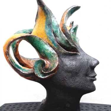 Feminine Sculpture, clay, abstract, artwork by Christine Dupont