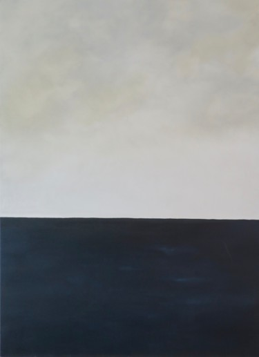 Seascape Painting, oil, abstract, artwork by Christine Alixant