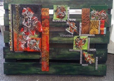 """Collages titled """"TROPICALE"""" by Llore, Original Art,"""