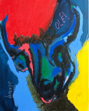 Painting, oil, outsider art, artwork by Genaudy
