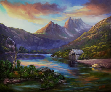 """Painting titled """"First light on Crad…"""" by Christopher Vidal, Original Art, Oil"""