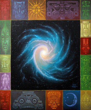 """Painting titled """"Sacred space"""" by Ciprian Mihailescu, Original Art, Oil"""