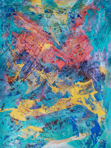 """Painting titled """"Sparkle in the Pool"""" by Caren Keyser, Original Art, Acrylic"""