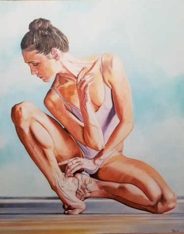"""Painting titled """"Ballet"""" by Frederic Decas, Original Art, Oil"""