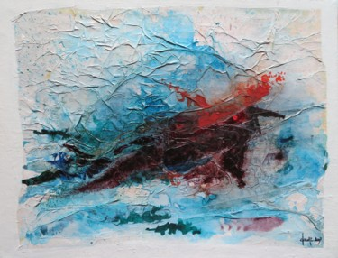 """Painting titled """"Exquise douleur - a…"""" by Clau Redier-Clément, Original Art, Ink Mounted on Stretcher frame"""