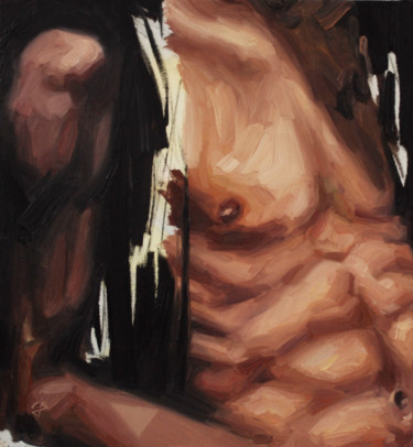 """Painting titled """"Black Additcion"""" by Claudia Barbu, Original Art, Oil Mounted on Other rigid panel"""
