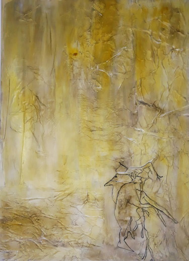 """Painting titled """"The Magic Forest /…"""" by Anima E Mela, Original Art, Acrylic Mounted on Stretcher frame"""