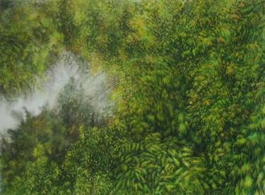 Forest Painting, watercolor, figurative, artwork by Clémence Wach
