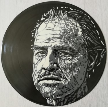 """Painting titled """"Vito Corleone"""" by Sérgio Clemente, Original Art, Acrylic"""