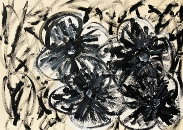 Flower Painting, acrylic, expressionism, artwork by Coart