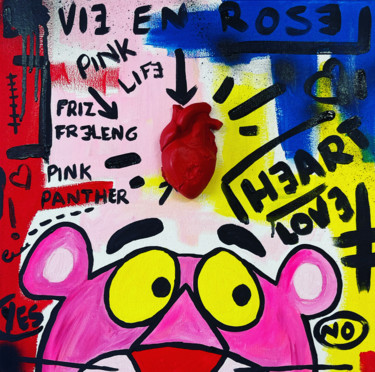 """Painting titled """"Story PINK PANTHER"""" by Cobo, Original Art, Acrylic"""
