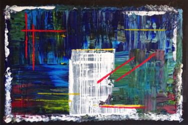 """Painting titled """"Behind the white wa…"""" by Conrad Bloemers, Original Art, Acrylic"""