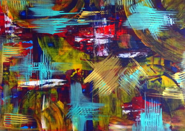 """Painting titled """"Urban vibes"""" by Conrad Bloemers, Original Art, Oil"""